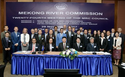 Annual Mekong River Commission Council meeting considered and approved countries financial contribution and a number of basin-wide strategies